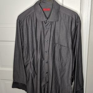 Alfani || Fitted Gray Longsleeve Button Down